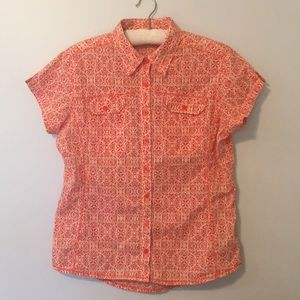 100% cotton Columbia button up, lightweight, Large
